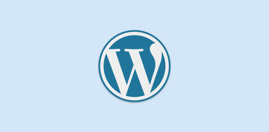 Logo WordPress Biru