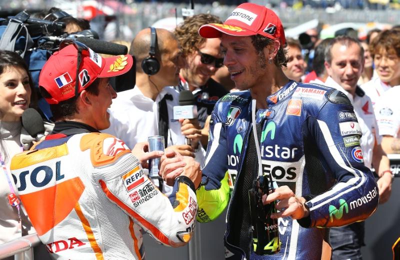 Marc Marquez dan Valentino Rossi MotoGP 2014