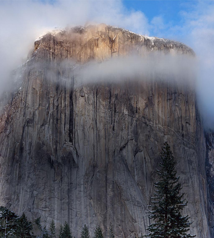 Bebatuan Bukti Yosemite yang keren