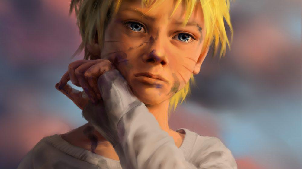 Gambaran Keren Naruto Kecil karya olggah