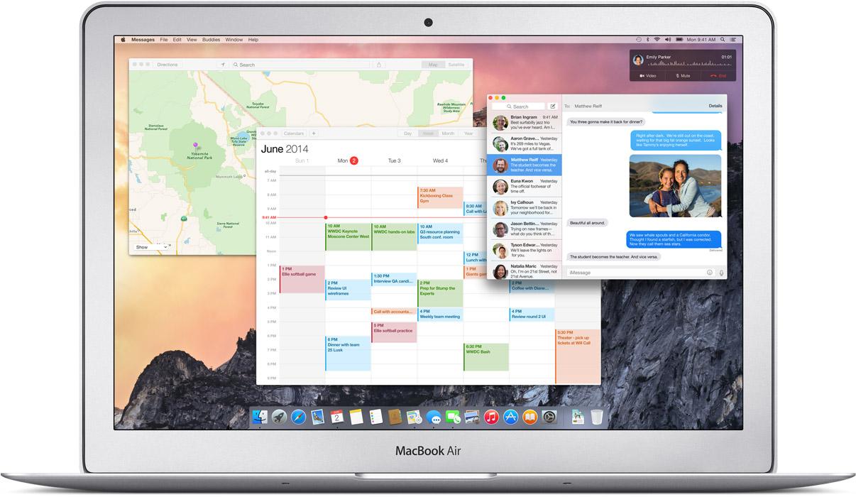 UI Warna-warni OS X Yosemite