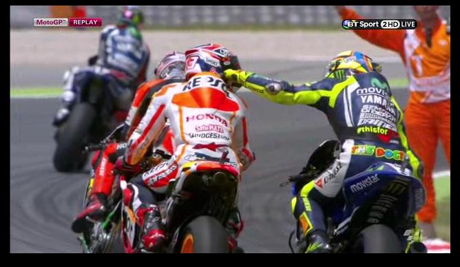 Valentino Rossi dan Marc Marquez Catalunya Spanyol 2014