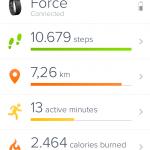 Hari ke Enam bersama FitBit Force