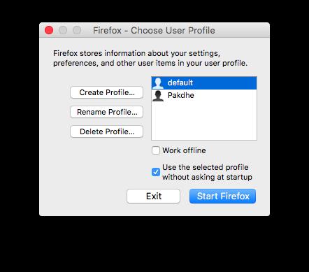 Multiple Firefox Profile on Mac OS X