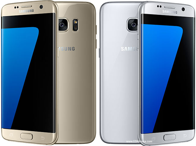 Samsung Galaxy S7 Edge Gold and White