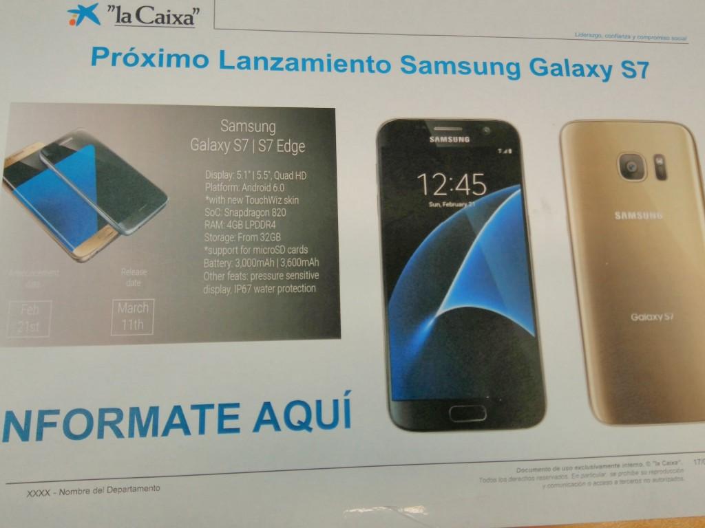 Spek Resmi Samsung Galaxy S7