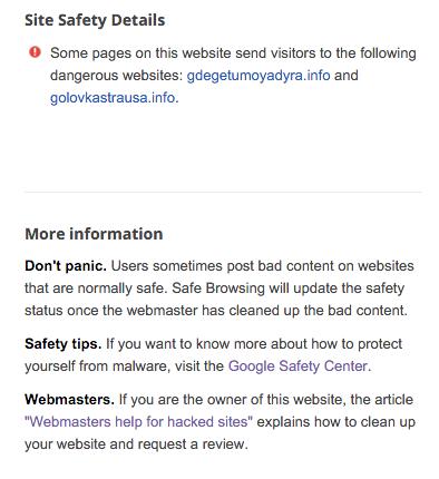 Laporan Malware WordPress dari Google