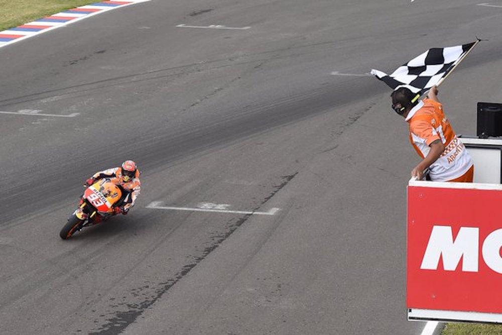 Marc Marquez 93 Finish Pertama MotoGP Argentina