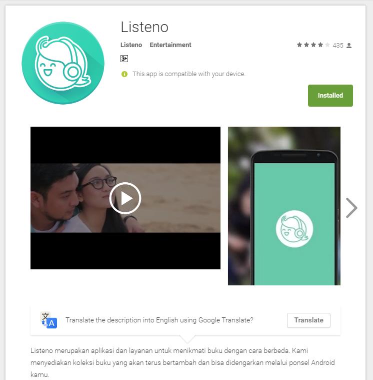 Listeno di Google Play
