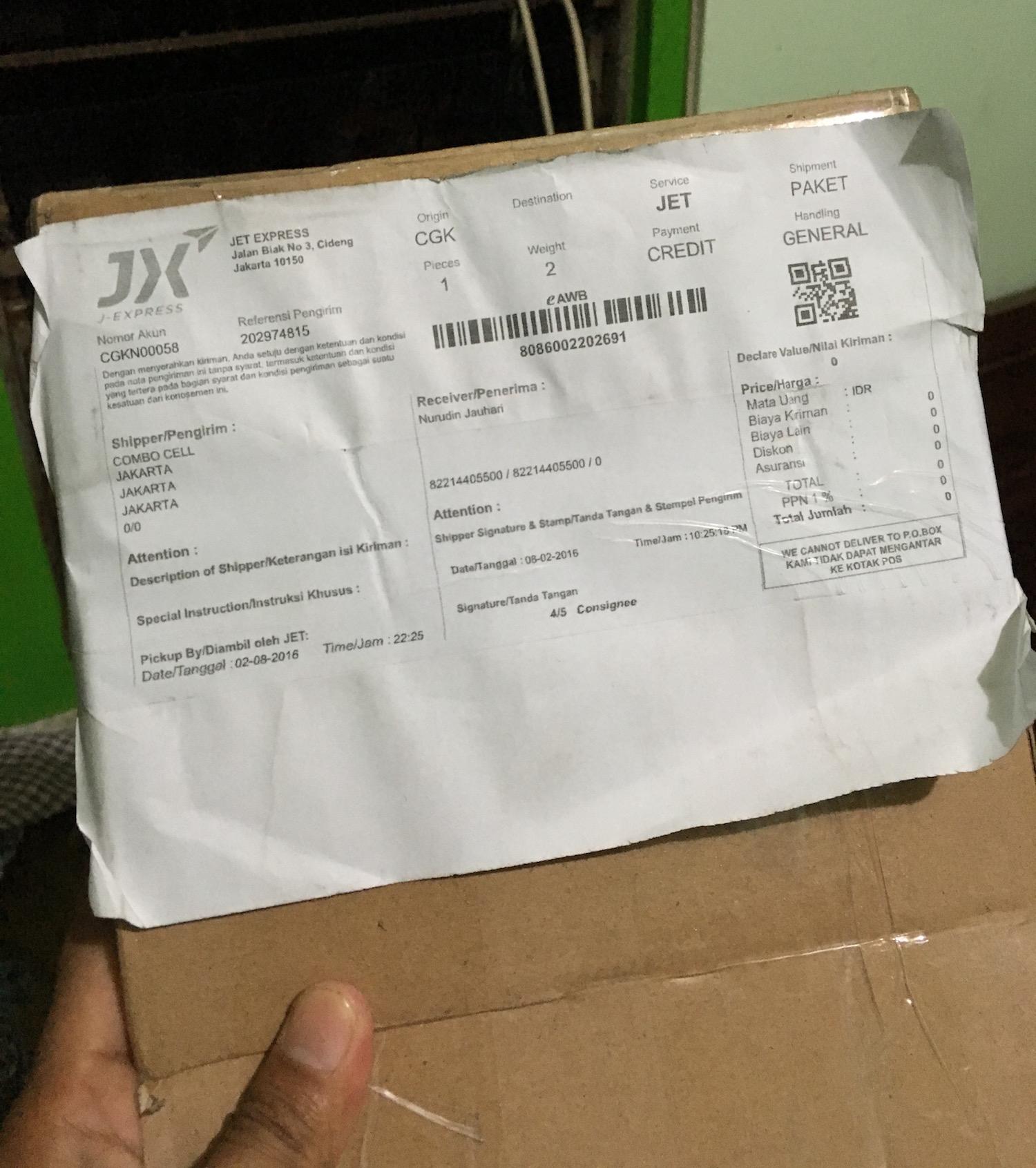 Paket JD.id sudah di Ponjong