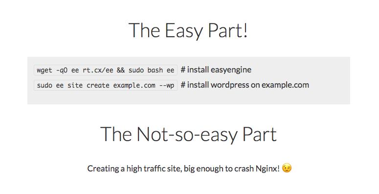 Cara Super cepat Install Easy Engine