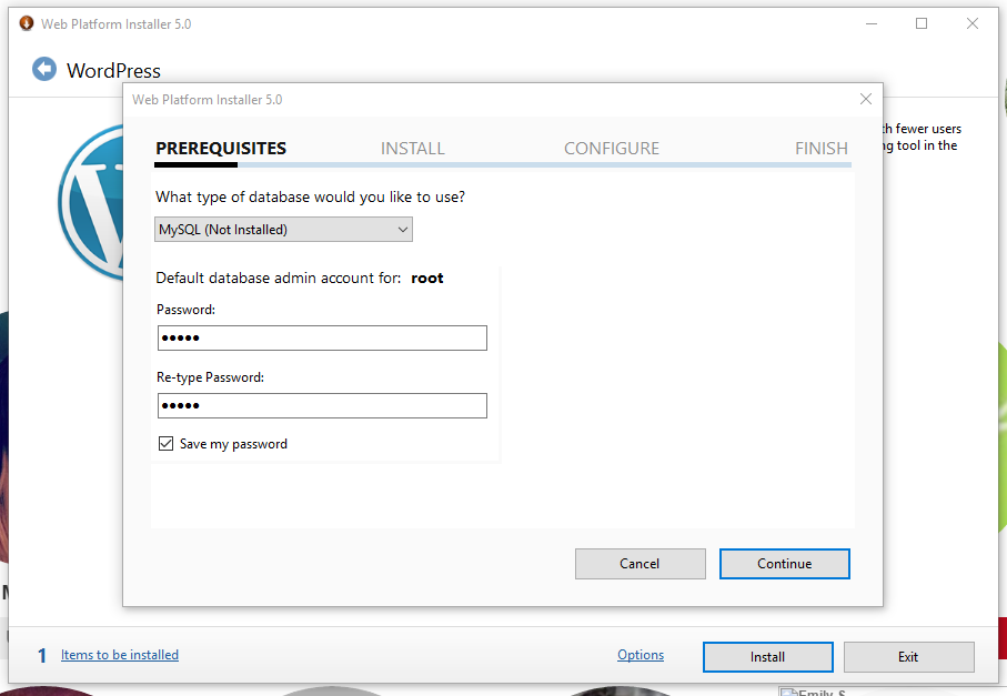 Langkah install wordpress di windows 10 dengan web pi