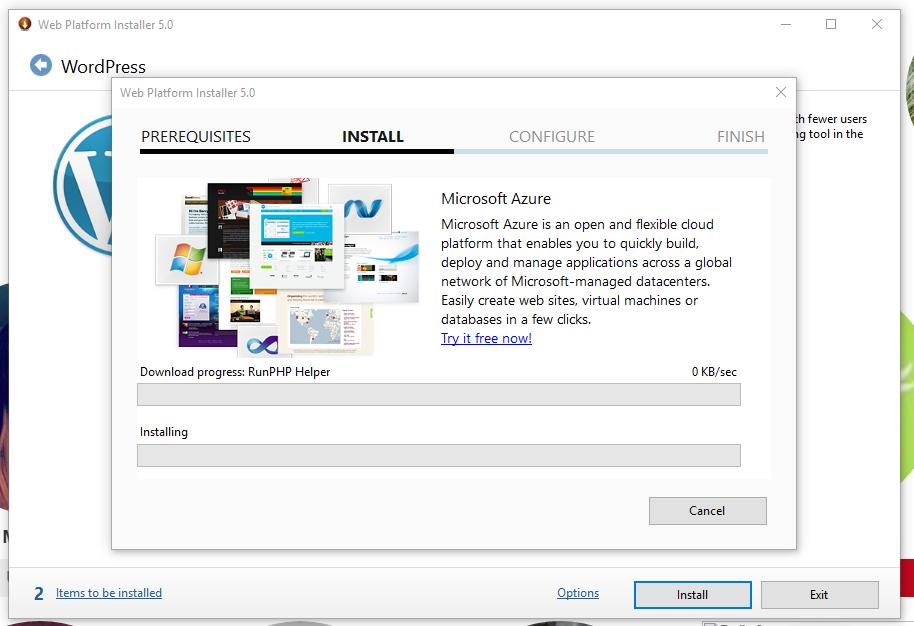 Proses install seperti install aplikasi di windows pada umumnya