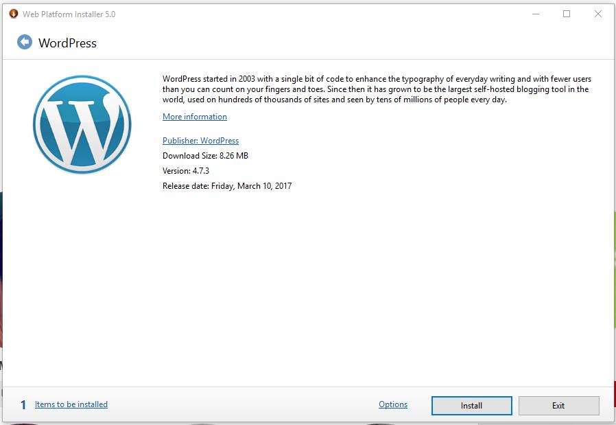 Tampilan microsoft web platform installer versi 5 — Nurudin Jauhari