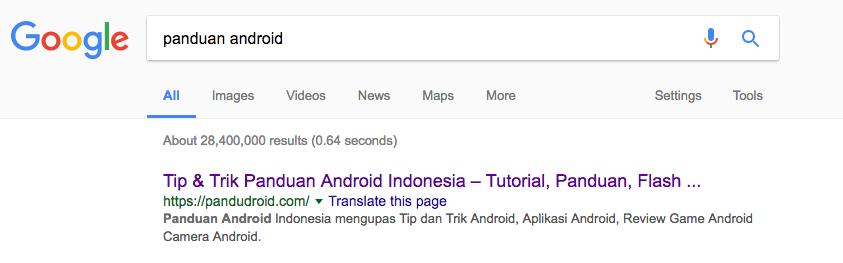 Kata Kunci Panduan Android