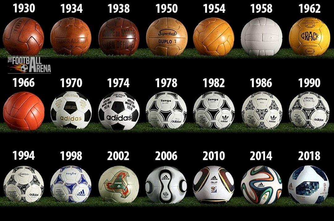 Inilah Gambar Bola Piala Dunia dari Masa ke Masa sejak Tahun 1930 2018