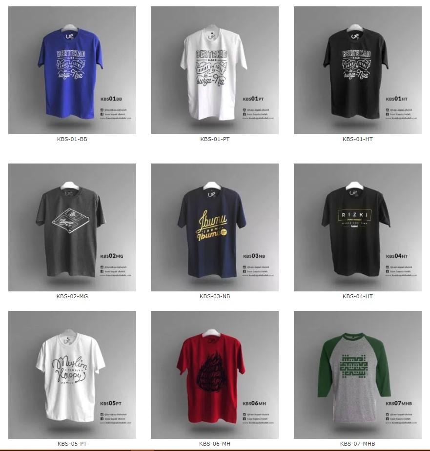 Beberapa Desain Kaos Bapak Sholeh