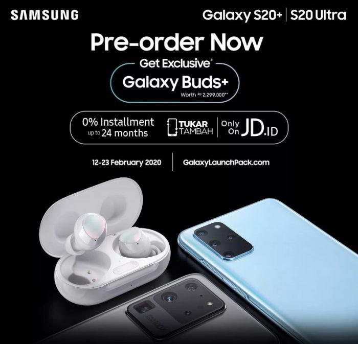 Promo Pre Order Samsung S20 dan S20 Ultra di JD id